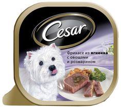 Корм для собак Цезарь фрикассе из ягненка овощи/розмарин, бн. 100 г