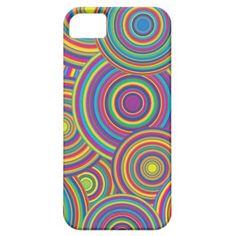 #Retro #Rainbow Circles Pattern #Iphone 5 Case $44.95