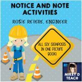 Do you love Notice and Note? How about Rosie Revere? This resource is useful for teaching all six signposts from Notice and Note.   The picture book Rosie Revere, Engineer by Andrea Beaty includes all six signposts for comprehension, PLUS it is has STEM and History tie-ins as well! It's a perfect resource to reinforce several concepts at the same time!