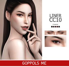 """goppolsme: """" GPME Liner cc10 • 5 Swatches • Download GPME-GOLD Liner cc10 • 8 Swatches • Download at GOPPOLSME patreon ( No ad ) • Access to Exclusive GOPPOLSME Patreon only • ( PAYPAL ) Donate for support me ❤ • Thank for support me ❤ • Thanks for..."""