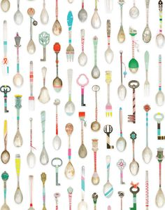 Elegant spoons, forks for posh cakes and old keys of forgotten rooms. Material Non woven wallpaper, water cleanable (Paste the Wall Wallpaper) Dimensions 6 m long x cm wide The pattern repeats after 3 m Of Wallpaper, Designer Wallpaper, Pattern Wallpaper, Amazing Wallpaper, Kitchen Wallpaper, Unique Wallpaper, Wallpaper Samples, Pretty Patterns, Beautiful Patterns