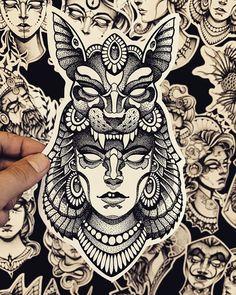 Sketch Tattoo Design, Tattoo Sketches, Tattoo Drawings, Family Tattoo Designs, Henna Tattoo Designs, Body Art Tattoos, Sleeve Tattoos, Tatoo Manga, Headdress Tattoo
