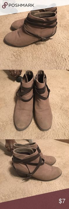 Mossimo booties Good condition. Only worn a few times. Mossimo Supply Co Shoes Ankle Boots & Booties