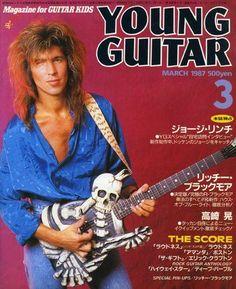 George Lynch, guitar player for Dokken & Lynch Mob Guitar Magazine, Metal Magazine, George Lynch Guitars, Metal Band Logos, Metal Bands, Young Guitar, Heavy Rock, Heavy Metal, Glam Metal