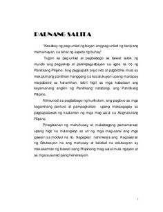 Modyul sa Filipino Grade 8 DepEd Philippines