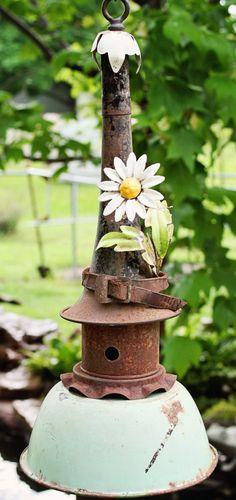 Birdhouse+Metal+Birdhouse+Reclaimed+Objects+Birdhouse+by+channa01,+$125.00