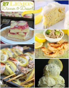 27 Lemon Dinner and Dessert Recipes