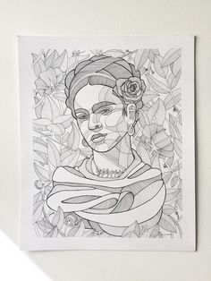 The tenth time's the charm, Frida Kahlo version #10.  Frida Kahlo 14 x 17 inches Ink on Bristol
