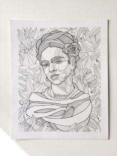 frida kahlo paintings The tenth time's the charm, Frida Kahlo version Frida Kahlo 14 x 17 inches Ink on Bristol Art And Illustration, Drawing Sketches, Art Drawings, Frida Kahlo Portraits, Kahlo Paintings, Frida Art, Deco Originale, Pen Art, Art Plastique