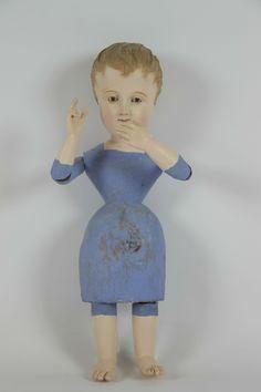 talla en madera policromada. niño jesus. s. xix - Comprar Escultura Religiosa Antigua en todocoleccion - 47815336