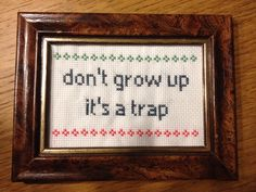 Dyr op citat - Find en god ramme for dette - ralph Embroidery Sampler, Embroidery Works, Embroidery Hoop Art, Custom Embroidery, Cross Stitch Embroidery, Cross Stitch Gallery, Cross Stitch Designs, Cross Stitch Patterns, Cross Stitch Quotes