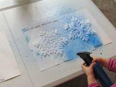 Spray snowflakes
