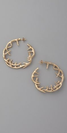antler earrings-- !