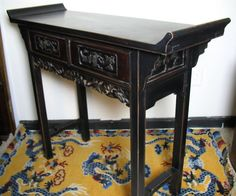 Chinese Carved Altar Hallway Display Table Cabinet | eBay