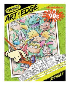 Give your budding artist the tools to enhance their imagination and create unique pieces of art featuring their favorite 90s Nick at Night characters.