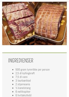 How to make the perfect traditional Norwegian christmas dinner Viking Christmas, Norway Christmas, Norwegian Christmas, Pork Recipes, Wine Recipes, Cooking Recipes, Scandinavian Food, Scandinavian Christmas, Swedish Recipes