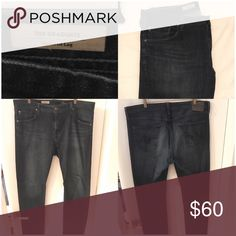 AG Adriano Goldschmied Jeans The Graduate Tailored Fit Dark Blue AG Adriano Goldschmied Jeans Slim Straight