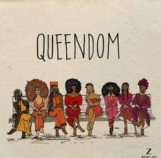 Queendom melanin black is beautiful black women queens Black Love Art, Black Girl Art, My Black Is Beautiful, Black Girl Magic, Art Girl, Black Girls, Black Girl Cartoon, Beautiful Friend, Beautiful Images