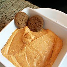 Pumpkin Pie Dip - serve w gingersnaps, apple slices & pear slices