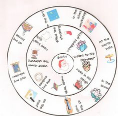 Sentence writing practice with Hello Santa Sentence Wheel! - Re-pinned by @PediaStaff – Please Visit http://ht.ly/63sNt for all our pediatric therapy pins