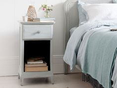 We have a super range of bedside tables. From French style, solid oak, gorgeous painted ones and metal bedside cabinets. Wooden Bedside Table, Bedside Tables, Double House, Loft Room, Comfy Sofa, Reclaimed Timber, Bedside Cabinet, Spare Room, Vintage Wood