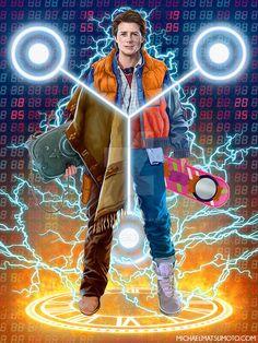 Back to the Future - Trilogy / Zurück in die Zukunft - Trilogie / Marty McFly Michael J Fox, Science Fiction, Digital Foto, Comics Illustration, Cinema Tv, Marty Mcfly, Fan Art, Film Serie, Back To The Future