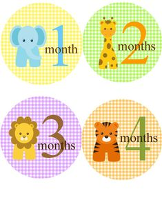 Baby Month Stickers for Boy or Girl/Jungle Zoo Animals/ 12 Month Onesie Stickers/Baby Shower Gift Baby Milestone Chart, Baby Shower Gifts, Baby Gifts, Baby Month Stickers, Baby Milestones, First Baby, Baby Month By Month, Baby Pictures, Little Ones