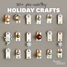 Christmas Holiday Crafts~~Give your home a handmade look with ornaments, wreaths, garlands, pillows, and more that you create yourself. Make several versions and give them as personalized hostess gifts throughout the season.