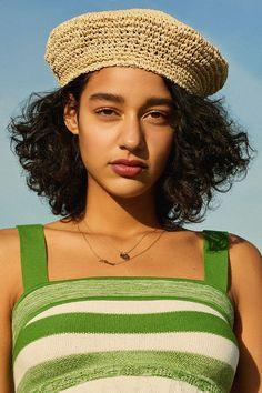 Urban Outfitters Straw Beret - Neutral One Size