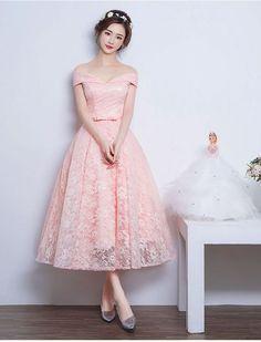 1950s Audrey Hepburn Vintage Inspired Off Shoulder Lace Prom Formal Dress
