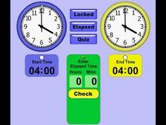 Telling Time / Elapsed Time Teaching Tool