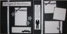 prom layouts for scrapbooking | High School PROM BoY dance 12x12 Premade Scrapbook Pages