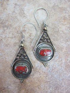 Dharmashop.com - Traditional Large Tibetan Earrings, $48.00 (http://www.dharmashop.com/traditional-large-tibetan-earrings/)