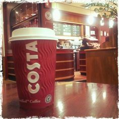 I could really use some costa coffee right now.