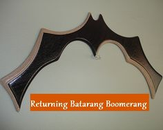 """Awesome. Although, """"This is a REAL returning Batarang boomerang. Inspired by BATMAN. This is an advanced returning boomerang for experienced throwers. Thrown with a medium toss, slight angle, mid height release. Thrower must be 14 years or older and right handed."""""""