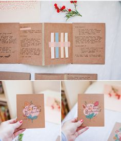"""""""be my bridesmaid please"""" requests! fold out kraft booklets"""