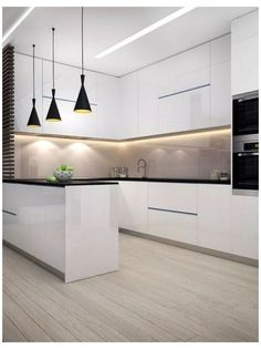dream home Interior design ideas for a luxury kitchen decor. On this kitchen, you can see extraordinary furniture design pieces Kitchen Room Design, Luxury Kitchen Design, Kitchen Cabinet Design, Home Decor Kitchen, Kitchen Layout, Interior Design Kitchen, Kitchen Furniture, Kitchen Ideas, Kitchen Inspiration