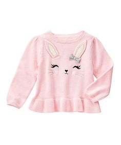 Love this Pink Bunny Peplum Sweater - Infant & Toddler on #zulily! #zulilyfinds