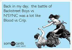 Backstreet Boys vs N'SYNC.... hahahahahaha