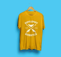 Harry Potter Shirt Tshirt T shirt Hufflepuff Potter Shirt Hufflepuff Shirt Hufflepuff Quidditch Potter Hogwarts Alumni Quidditch Shirt 205