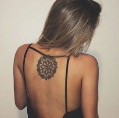 Mandala back tattoo