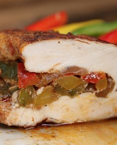 Healthy Fajita-Stuffed Chicken