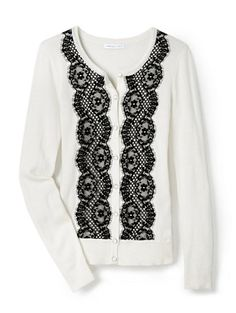 Shop Lace-Front Cardigan . Find your perfect size online at the best price at New York & Company. Winter white, medium