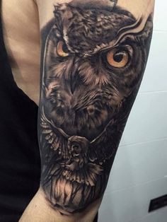 Amazing Owl Tattoos by Pxa Body Art