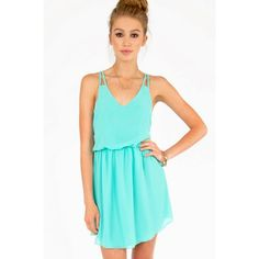 Cute mint colored dress Lightweight, comfortable dress in a beautiful mint aqua blue green color. Like new! unfortunately it was a bit too big on me since I'm normally a size XS :( ... 💕reasonable offers are welcome! Tobi Dresses