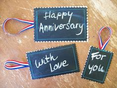 chalkboard fabric gift tags