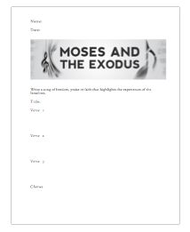 Moses and the Exodus Freedom Song Handout Catholic Religious Education, Enrichment Programs, Bible Activities, Classroom Ideas, Freedom, Religion, Teacher, Songs, How To Plan