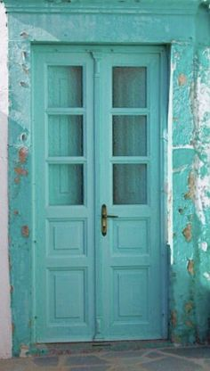 48 ideas exterior paint colours for house turquoise colour Turquoise Door, Shades Of Turquoise, Shades Of Blue, Aqua Blue, Aqua Door, Verde Tiffany, Azul Tiffany, Exterior Paint Colors, Paint Colors For Home
