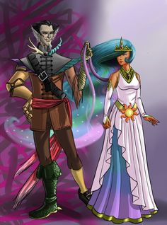 Human Discord and Celestia by ~Nouveau-Charles on deviantART