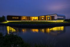 """Sleek design, open spaces, and futuristic vibe earned this house the nickname """"UFO House"""" #architecture   KUKUN"""